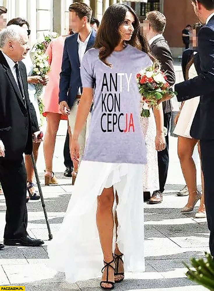 Marta Kaczyńska antykoncepcja konstytucja napis na koszulce przeróbka