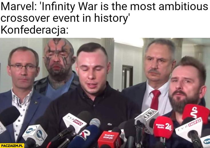 Marvel Infinity War jest najambitniejszym crossoverem w historii Konfedereacja w sejmie Bonus RPK Liroy Różal