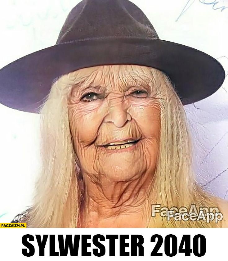 Maryla Rodowicz postarzona stara faceapp przeróbka twarzy sylwester 2040