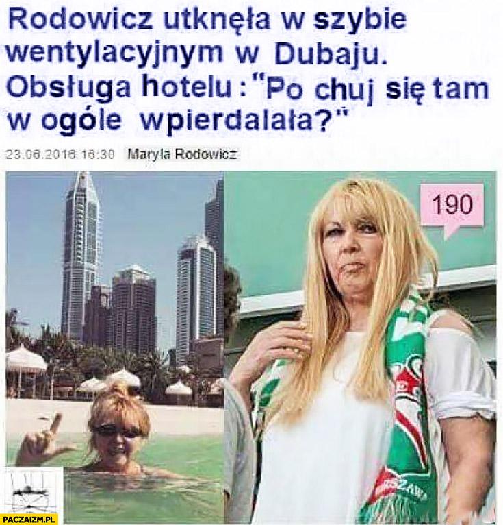 Maryla Rodowicz utknęła w szybie wentylacyjnym Dubaju obsługa hotelu: po kij się tam w ogóle wpierdzielała? Pudelek