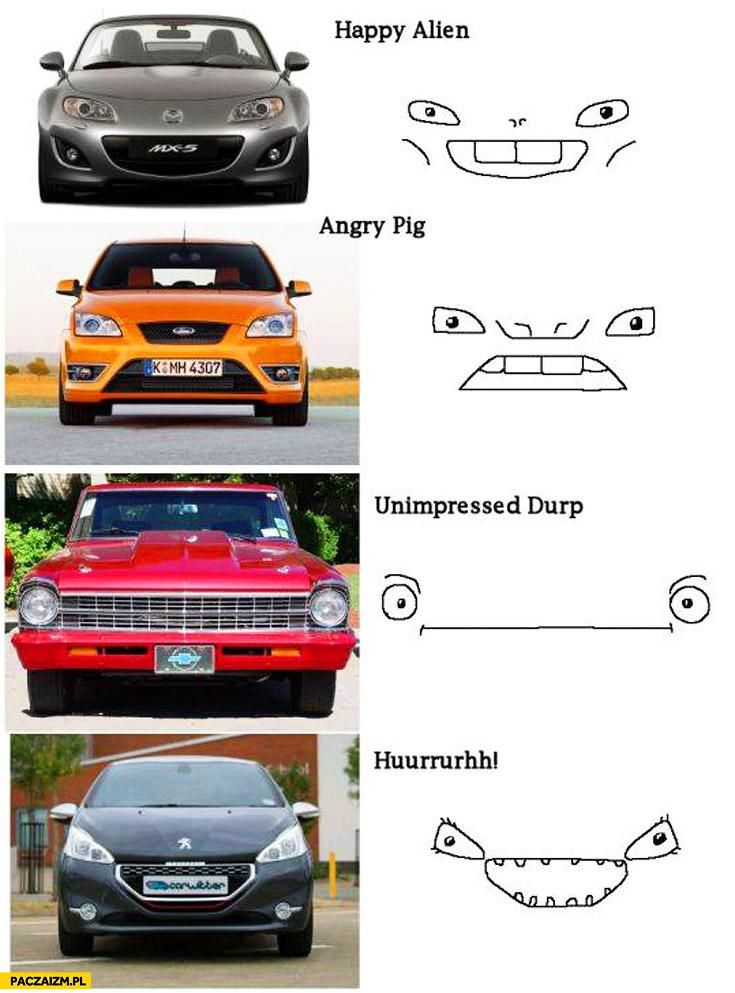 Maski samochodów co naprawdę widać