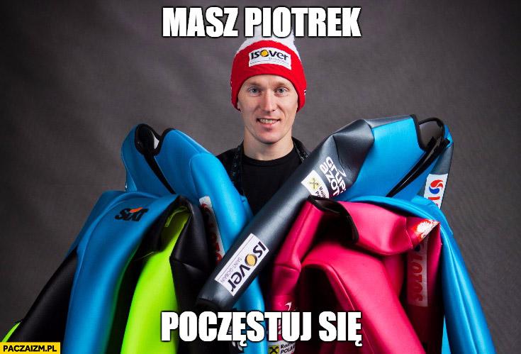 Masz Piotrek, poczęstuj się skoki narciarskie Stefan Hula Piotr Żyła zdyskwalifikowany
