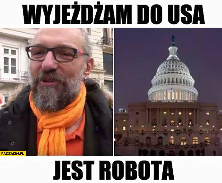 Mateusz Kijowski wyjeżdżam do USA, jest robota