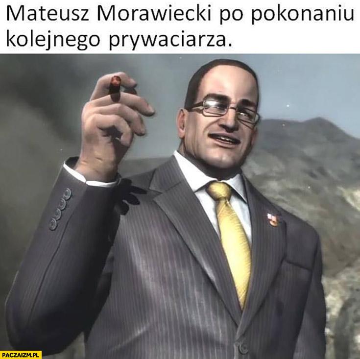 Mateusz Morawiecki po pokonaniu kolejnego prywaciarza