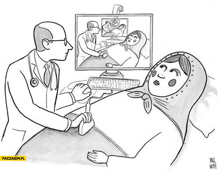 Matrioszka na USG ciąża incepcja