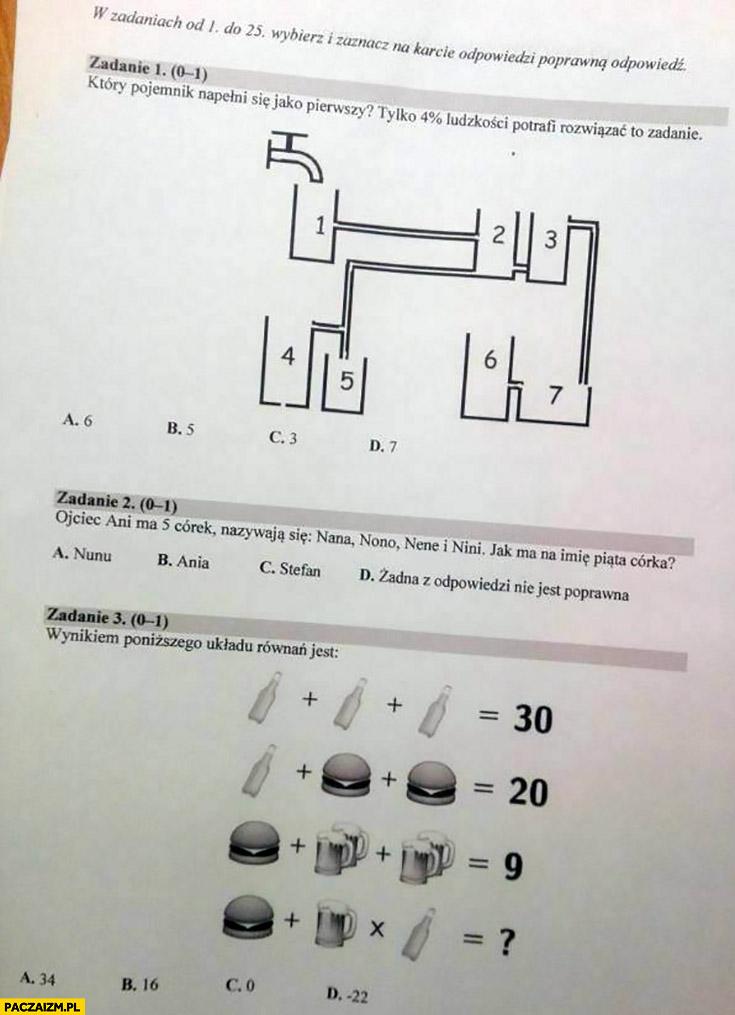 Matura z matematyki jak zadania zagadki w internecie