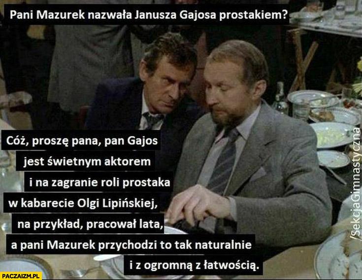 Mazurek nazwała Gajosa prostakiem sekcja gimnastyczna