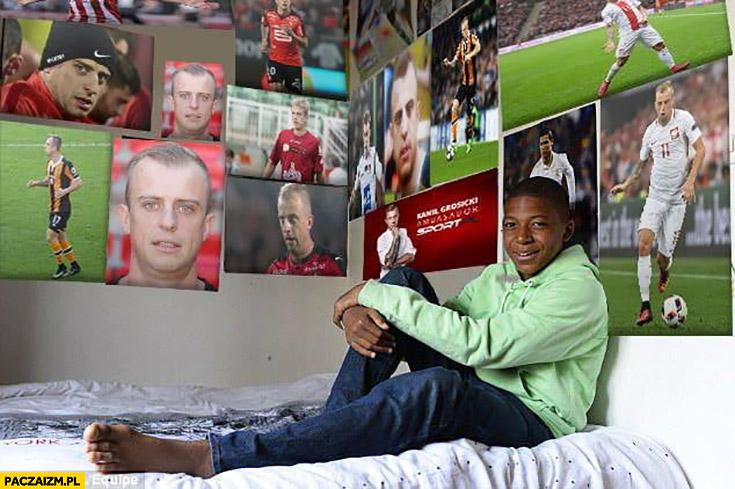 Mbappe Grosicki plakaty na ścianie fan kibic przeróbka photoshop