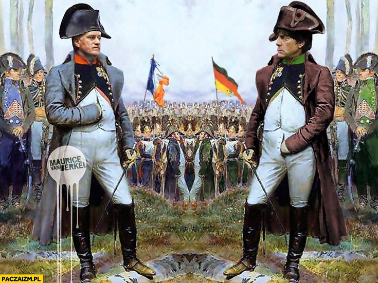 Mecz Francja Włochy trener Francji Napoleon Joachim Loew trener Niemiec ręka w spodniach