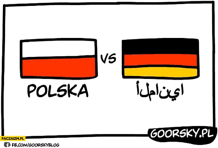 Mecz Polska Niemcy po arabsku islam Goorsky
