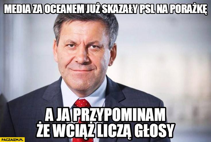 Media za oceanem już skazały PSL na porażkę a ja przypominam, że wciąż liczą głosy Piechociński