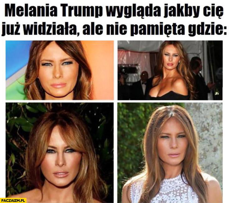 Melania Trump wygląda jakby Cię już widziała, ale nie pamięta gdzie