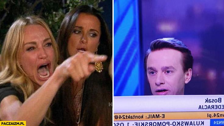 Mem z kotem Krzysztof Bosak debata TVN