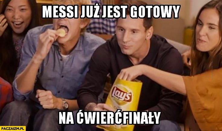 Messi już jest gotowy na ćwierćfinały chipsy Lays reklama mundial