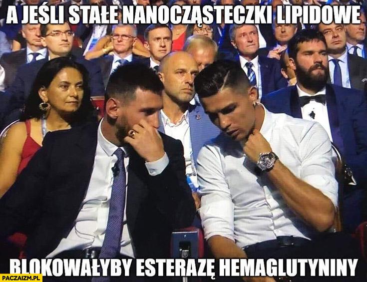 Messi Ronaldo wymyślają lek szczepionkę na koronawirusa