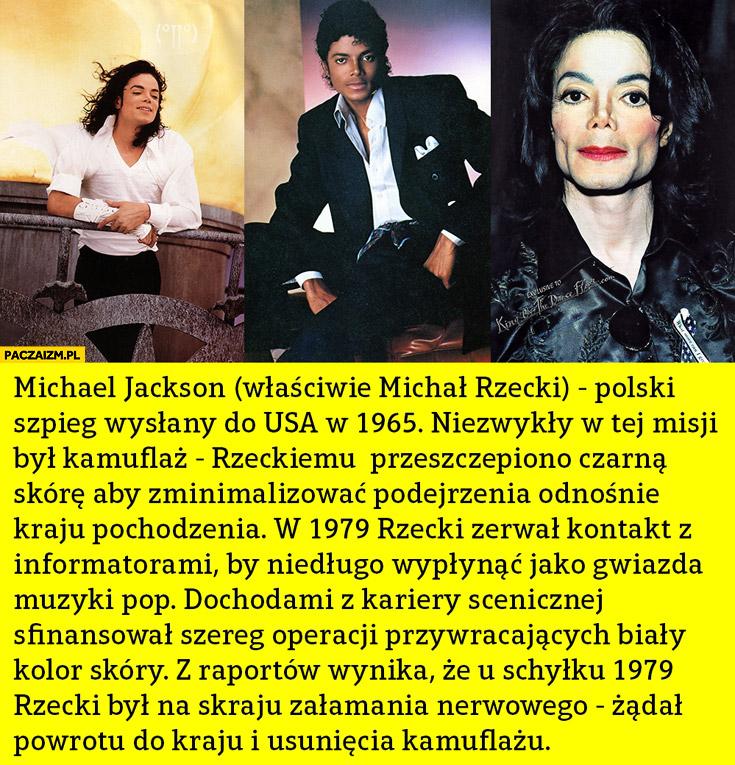 Michael Jackson polski szpieg wysłany do USA Michał Rzecki