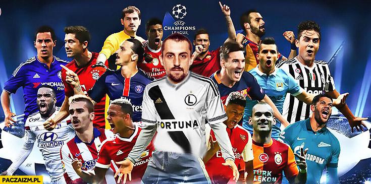 Michał Kucharczyk gwiazdy Ligi Mistrzów montaż przeróbka Photoshop