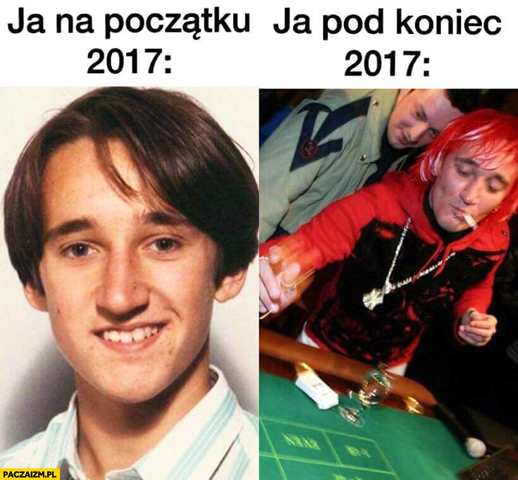 Michał Wiśniewski ja na początku 2017 vs ja pod koniec 2017