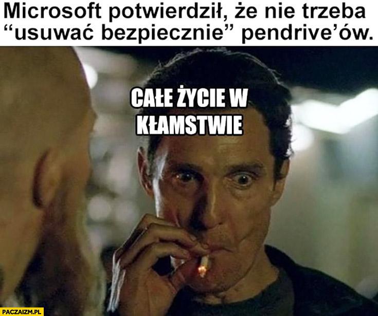 Microsoft potwierdził, że nie trzeba usuwać bezpiecznie pendrive'ów całe życie w kłamstwie