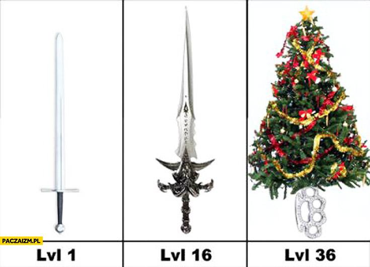 Miecz lvl 36 choinka