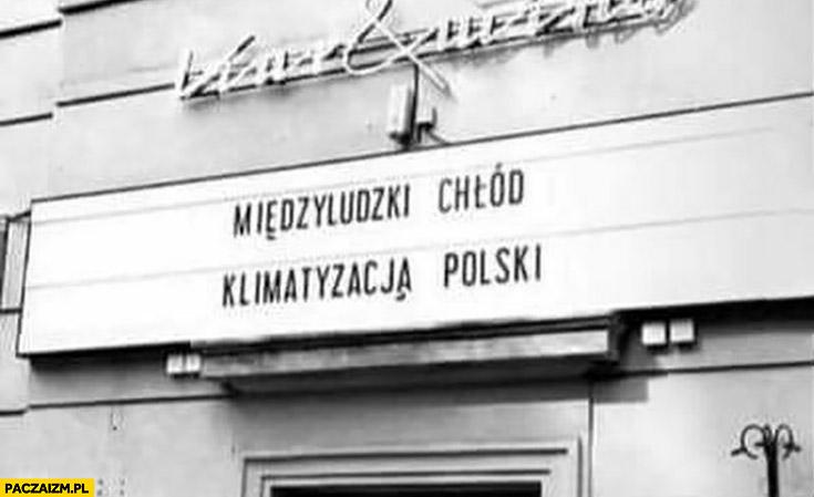 Międzyludzki chłód klimatyzacja polski