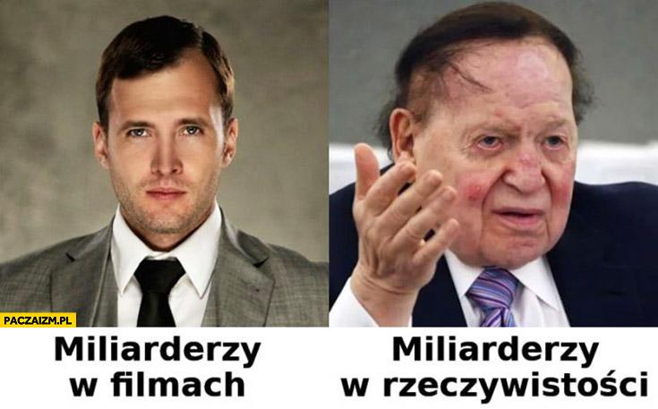 Miliarderzy w filmach vs miliarderzy w rzeczywistości porównanie wygląd