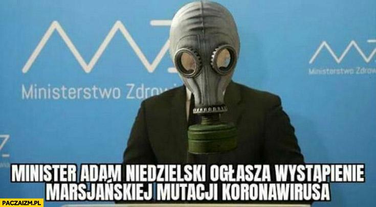 Minister Adam Niedzielski ogłasza wystąpienie marsjańskiej mutacji koronawirusa