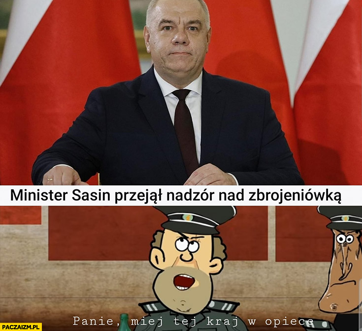 Minister Sasin przejął nadzór nad zbrojeniówką, panie miej ten kraj w opiece