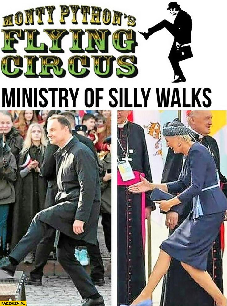 Ministerstwo śmiesznych kroków Andrzej Agata Duda Monty Python