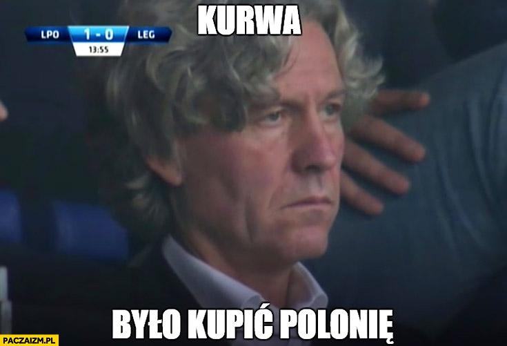 Mioduski na meczu Legia Warszawa kurna było kupić Polonię