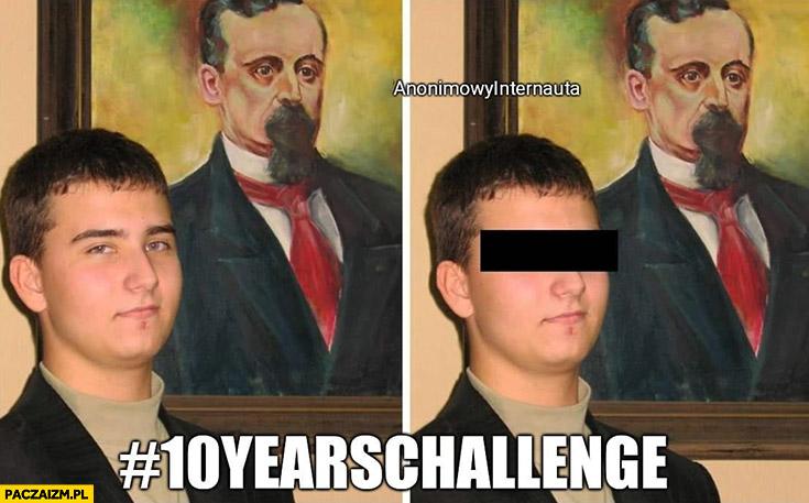 Misiewicz 10 years challenge z zasłoniętymi oczami kryminalista Anonimowy internauta