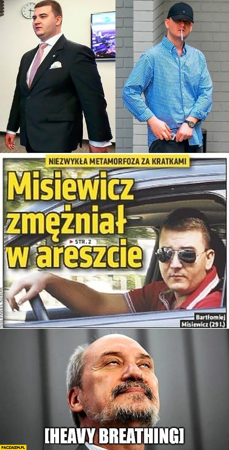 Misiewicz zmężniał w areszcie niezwykła metamorfoza za kratkami Macierewicz heavy breathing ciężko wzdycha