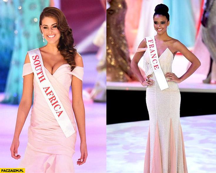 Miss RPA Południowej Afryki miss Francji