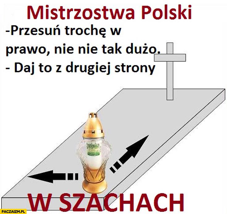 Mistrzostwa polski w szachach znicz na grobie przesuwanie