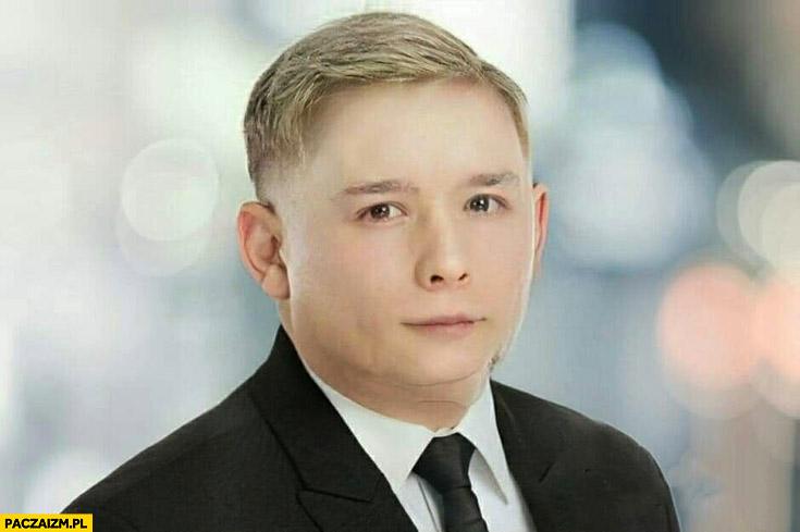 Młody Jarosław Kaczyński przeróbka faceapp face app