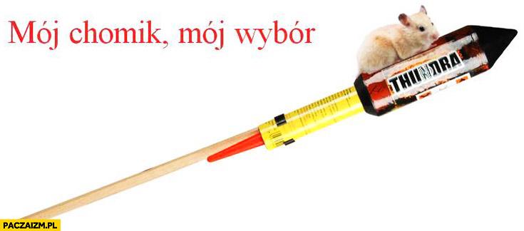 Mój chomik, mój wybór rakieta petarda fajerwerki