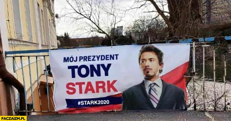 Mój prezydent Tony Stark plakat wyborczy przeróbka