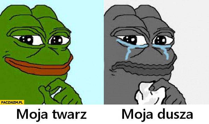Moja twarz moja dusza smutna żaba
