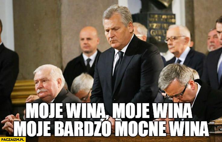 Moje wina, moje wina, moje bardzo mocne wina Kwaśniewski w kościele