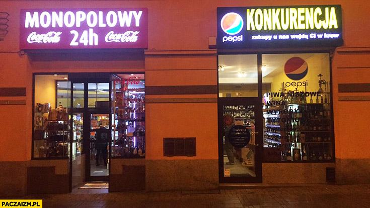 Monopolowy 24 h Coca-Cola konkurencja Pepsi