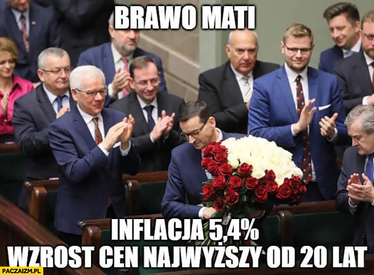 Morawiecki brawo Mati inflacja wzrost cen najwyższy od 20 lat kwiaty