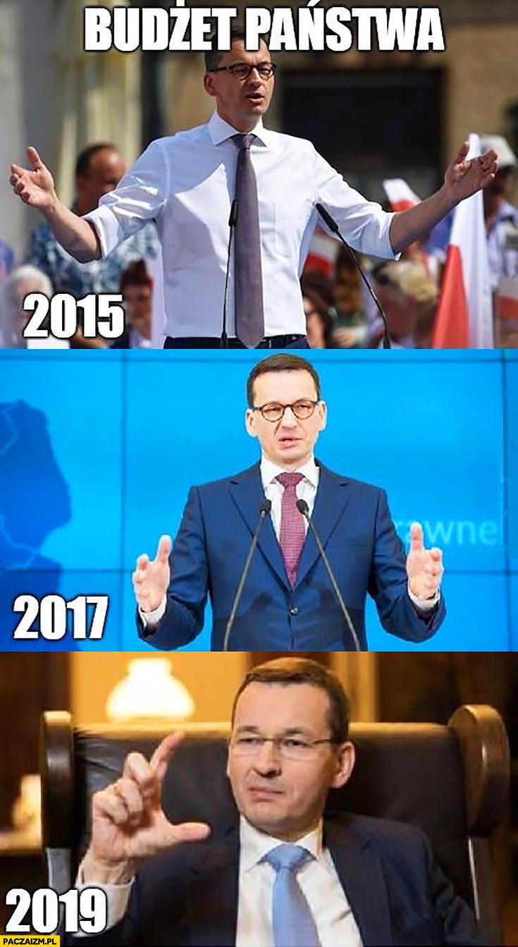 Morawiecki budżet państwa w 2015, 2017, 2019 porównanie pokazuje jaki jest duży jak się zmieniał na przestrzeni lat