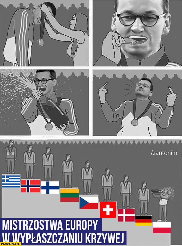 Morawiecki mistrzostwa Europy w wypłaszczaniu krzywej świętuje ostatnie miejsce zantonim