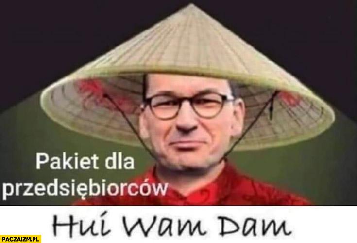 Morawiecki pakiet dla przedsiębiorców kij wam dam Chińczyk
