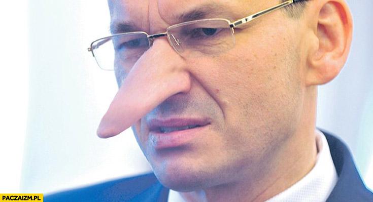 Morawiecki Pinokio długi nos przeróbka