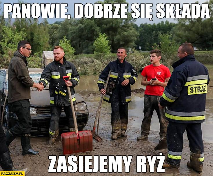 Morawiecki powódź panowie dobrze się składa, zasiejemy ryż