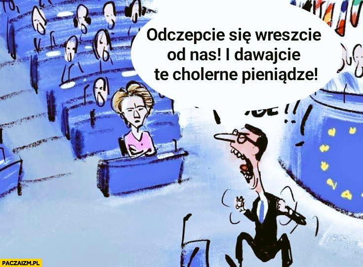 Morawiecki w parlamencie europejskim PE odczepcie się wreszcie od nas i dawajcie te cholerne pieniądze