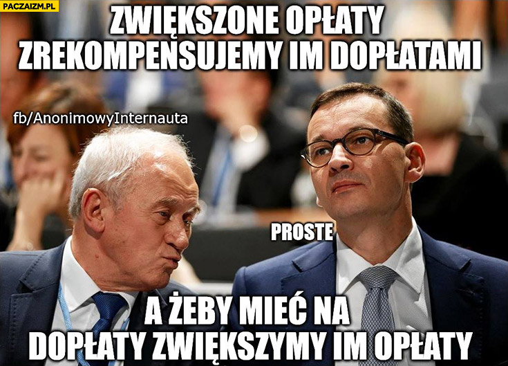 Morawiecki zwiększone opłaty zrekompensujemy im dopłatami a żeby mieć na dopłaty zwiększymy im opłaty