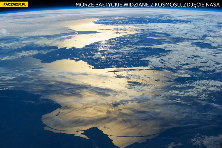 Morze Bałtyckie widziane z kosmosu zdjęcie NASA