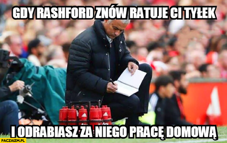 Mourinho gdy Rashford znów ratuje Ci tyłek i odrabiasz za niego pracę domową
